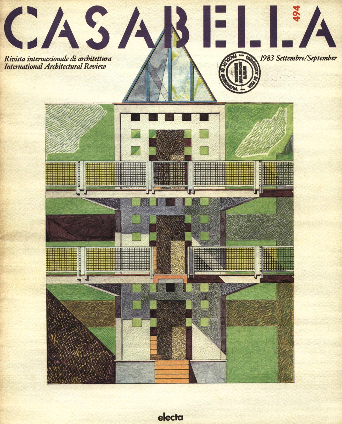 """Casabella"", n°494, Settembre 1983, Ed. Electa"